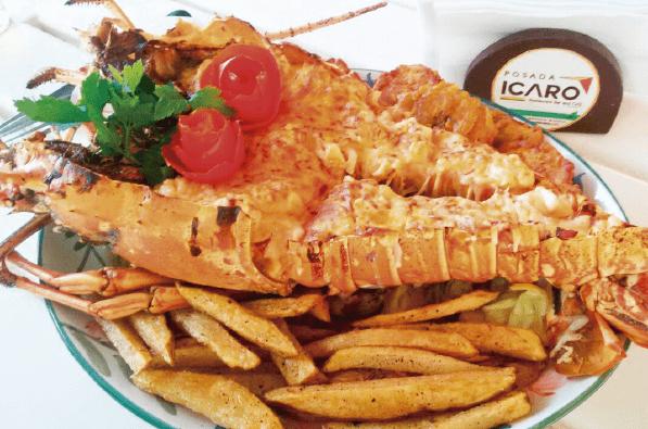 Exquisita comida de mar te ofrece Posada Icaro